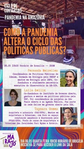 Como a pandemia altera o ciclo das políticas públicas? (06/05)
