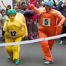 Snailympics - Deviser and Performer, THE FACELESS COMPANY - Street Theatre and Community Arts