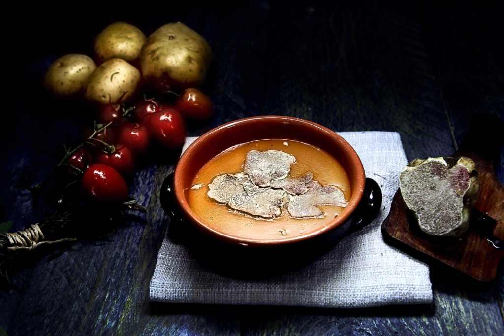 Crema di patate con tartufo