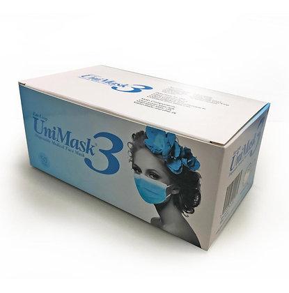 Cubrebocas Unimask tricapa, grado médico, marca Uniseal