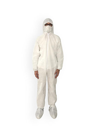 Overol impermeable, semidesechable