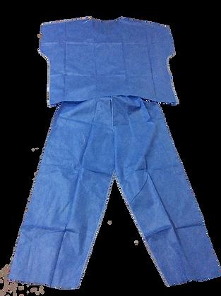 Uniforme quirúrgico desechable, unitalla, paquete de 10