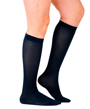 Calcetín de compresión graduada para caballero de baja compresión a la rodilla