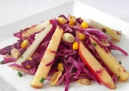 Salada de Repolho Roxo com Maçã