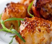 Coxa de frango assada