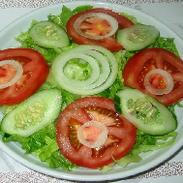 Salada Mista com Pepino e Alface