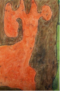 Untitled (Abstract Orange and Brown)