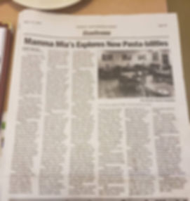 Mamma Mia's article in Seymour South Knoxville Herald