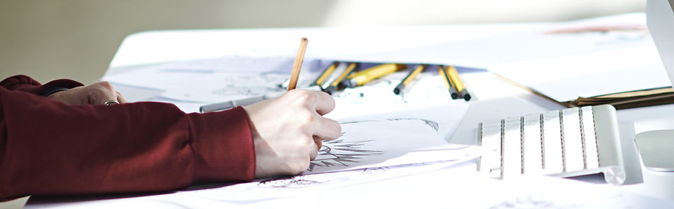 Image of artist sketching.