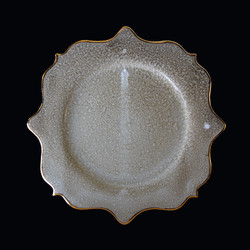 Rococo salad plate - dune