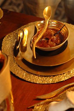 Ripple | Black dinner set | Gold