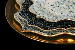 Rococo Dinner set - Gold
