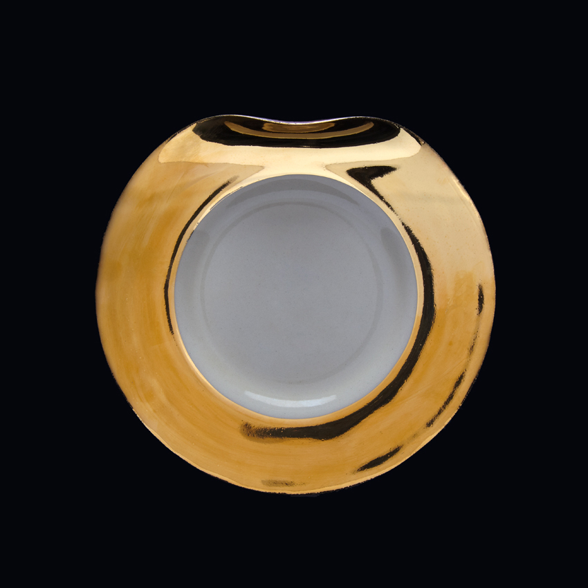 Ripple | Salad plate | Gold