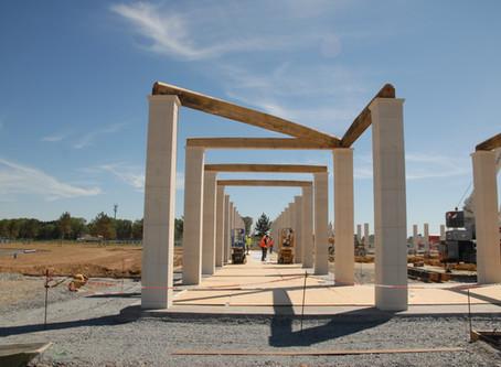 Progress at the Normandy Memorial