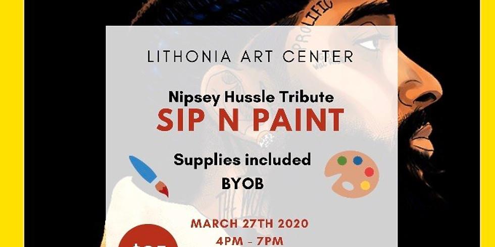 Nipsey Hussle SIP-N-PAINT tribute