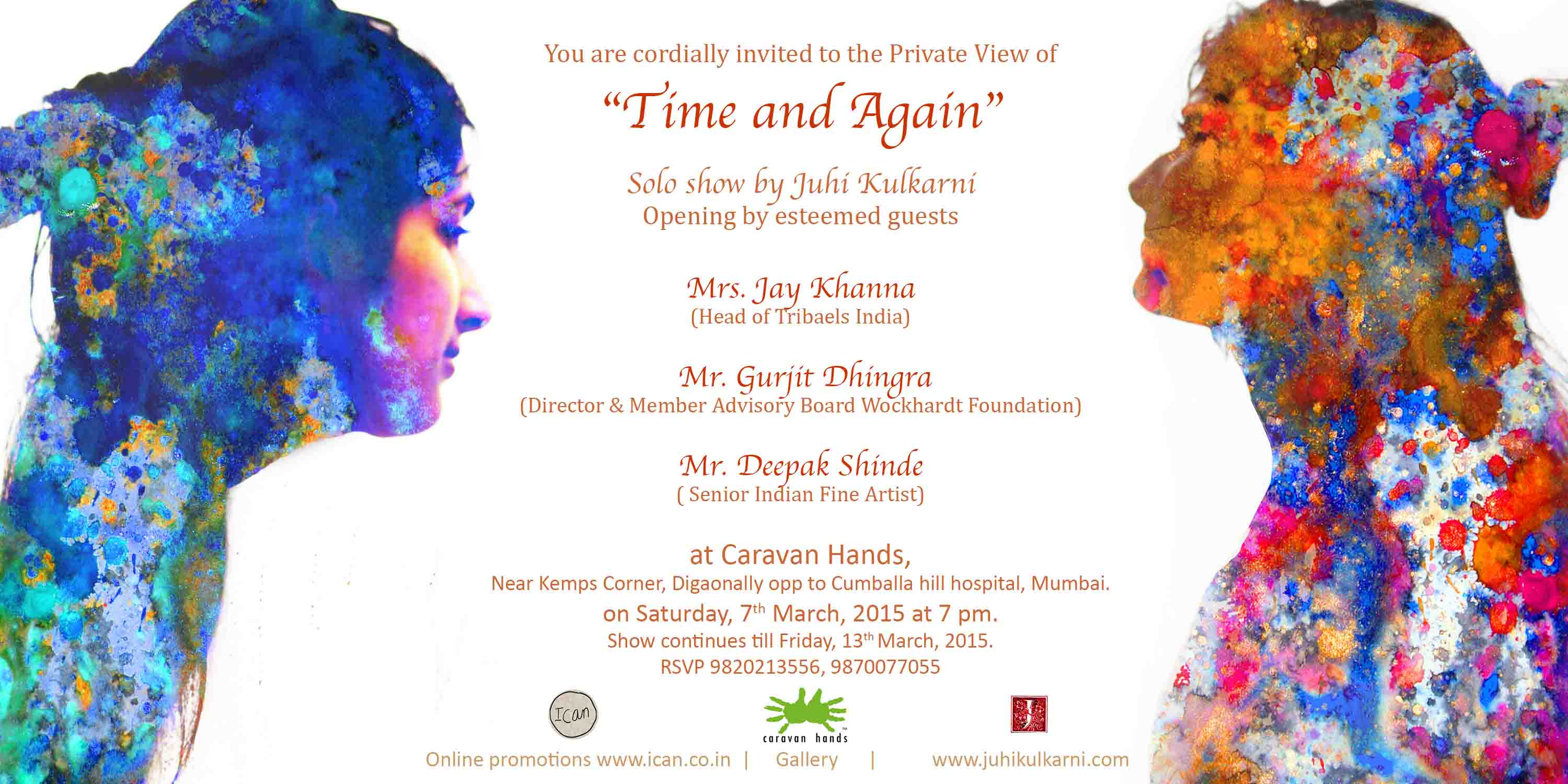 Invitation for the show