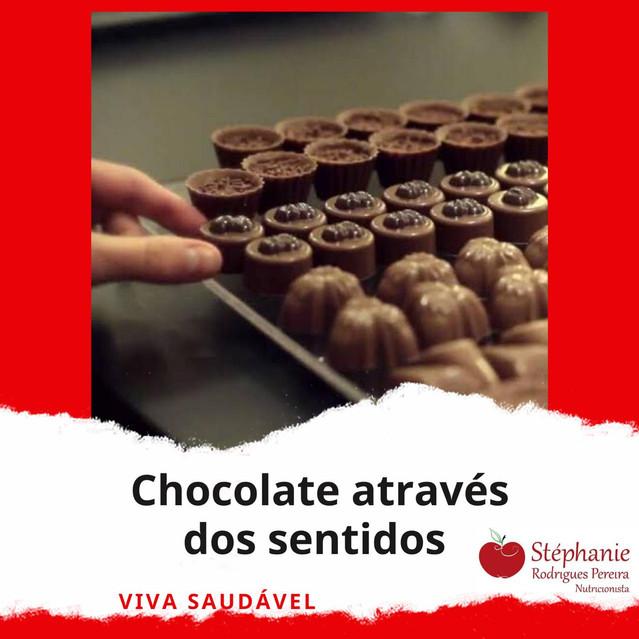 Chocolate através dos sentidos