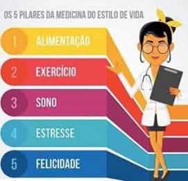 5 pilares do estilo de vida saudável