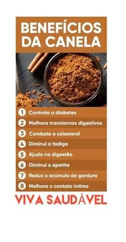Benefícios da canela