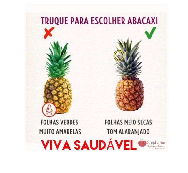 Truque para escolher Abacaxi