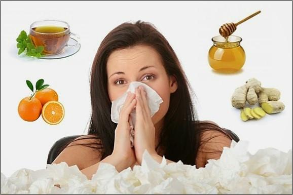 Os alimentos que ajudam a prevenir e a curar gripes e resfriados