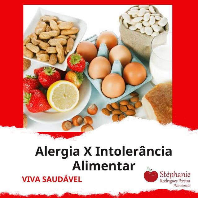Alergia X Intolerância