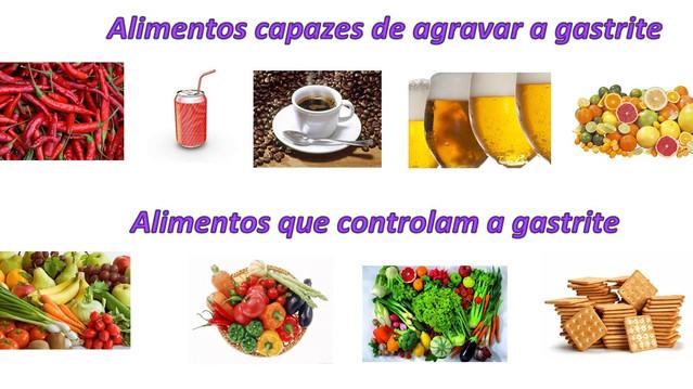 Alimentos que podem ou não ser consumidos durante a crise de gastrite.