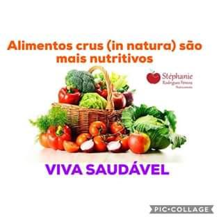 Alimentos crus são nutritivos