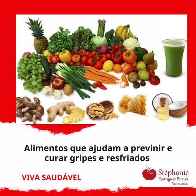 Alimentos que ajudam a prevenir e curar gripes e resfriados
