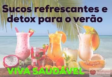 Sucos refrescantes e detox para o verão