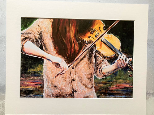 The Fiddler Mounted A3 Print
