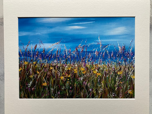 Sunny Day at The North Coast Mounted A3 Print