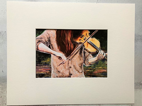 The Fiddler Mounted A4 Print