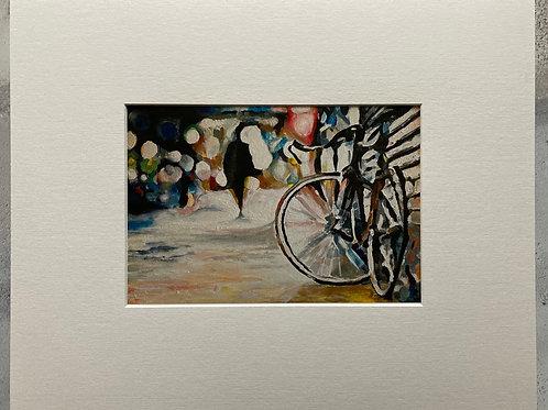 Abandoned Bike Mounted A4 Print