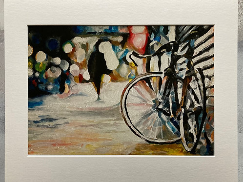 Abandoned Bike Mounted A3 Print