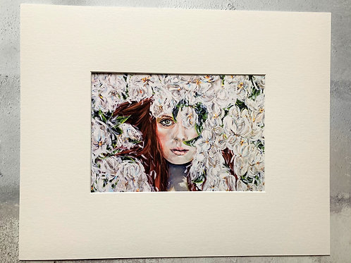 The Swan Maiden Mounted A4 Print