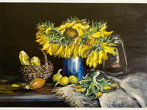 Still Life of Sunflowers A4 Loose Print