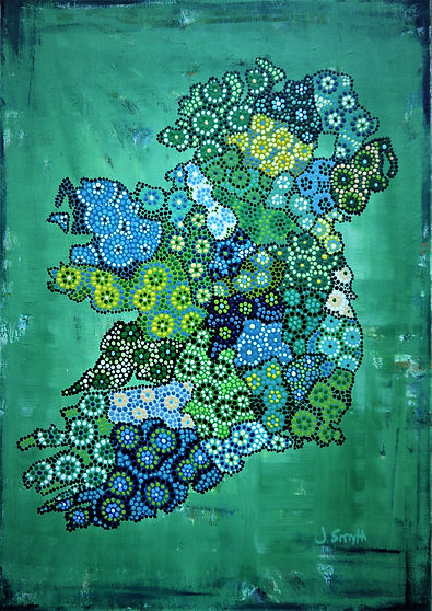 Ireland Map by Jill Smyth Art