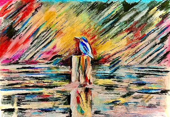 Kingfisher on The Lagan by Jill Smyth