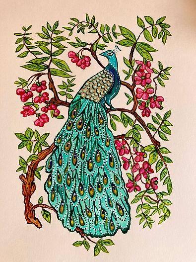 The Peacock by Jill Smyth Art