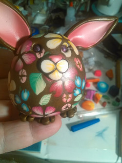 Brown and Floral Bunny