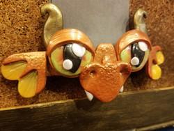Copper and Orange Dragon Barrette