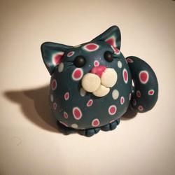 Watermelon Polka Dot Cat