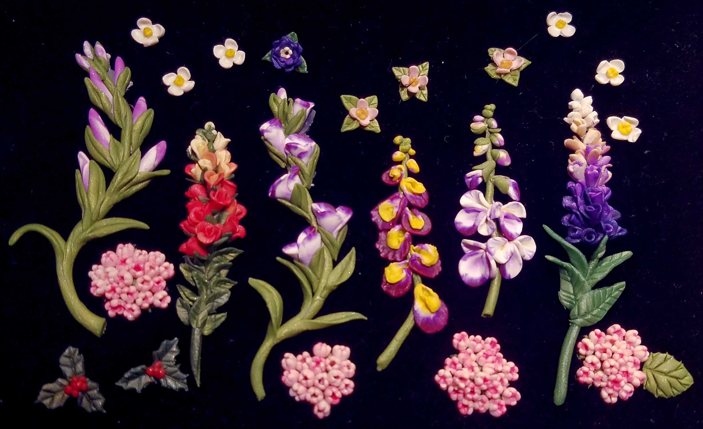 Collected Elaborate Sm. Flowers