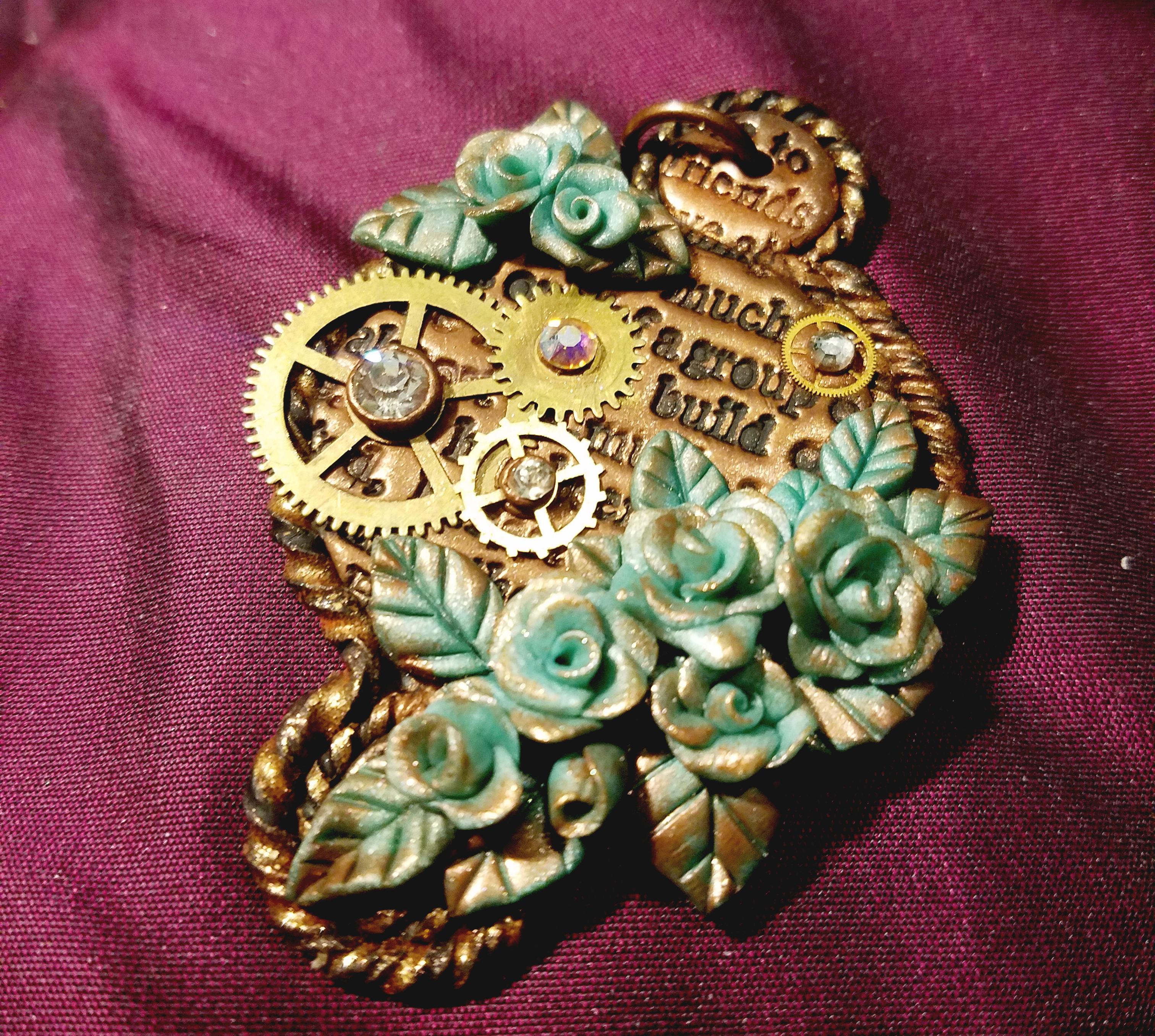 Bronze Patina Steampunk Pendant