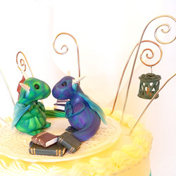 Cake Topper Dragon Pair