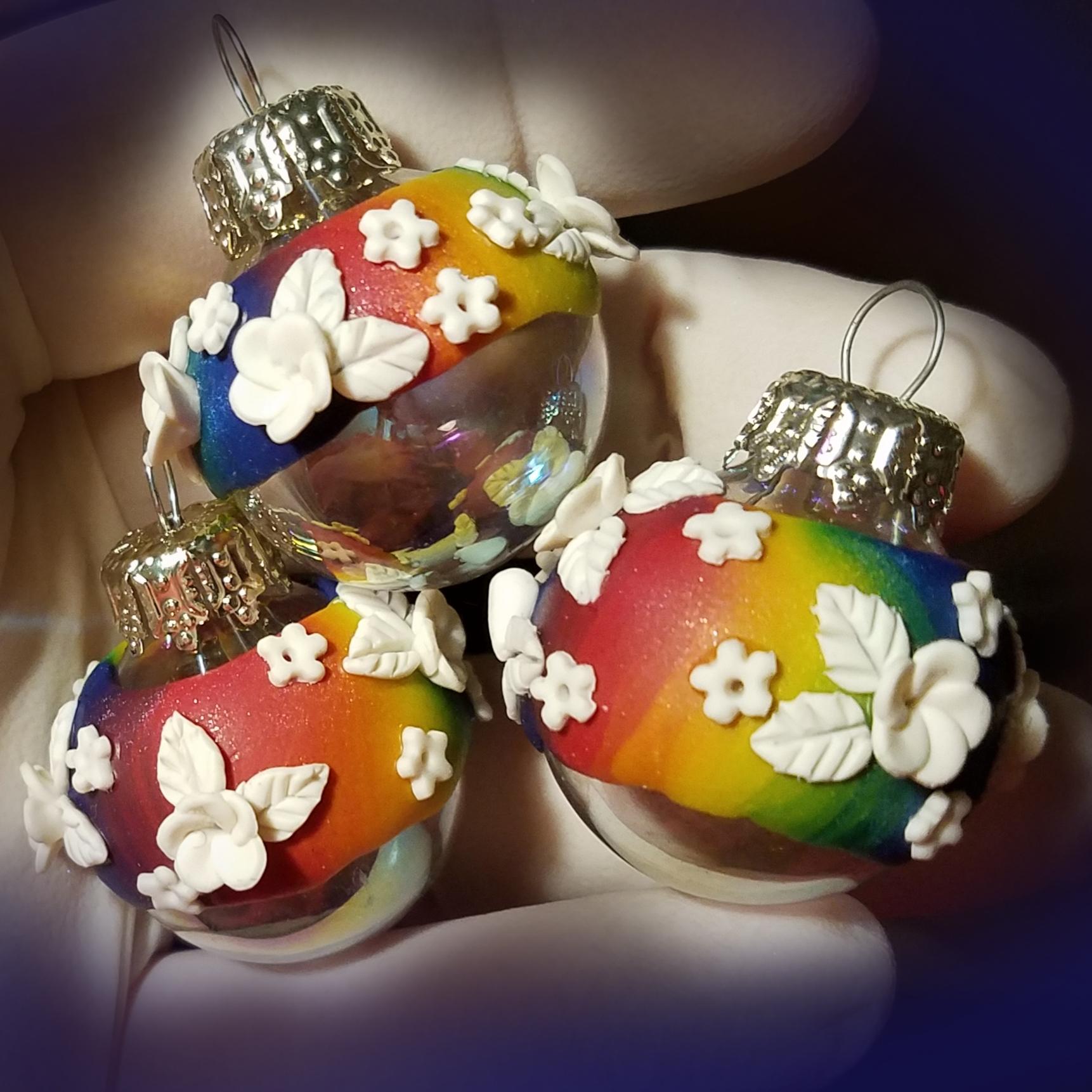 Mini Trio White/Rainbow/Iridescent