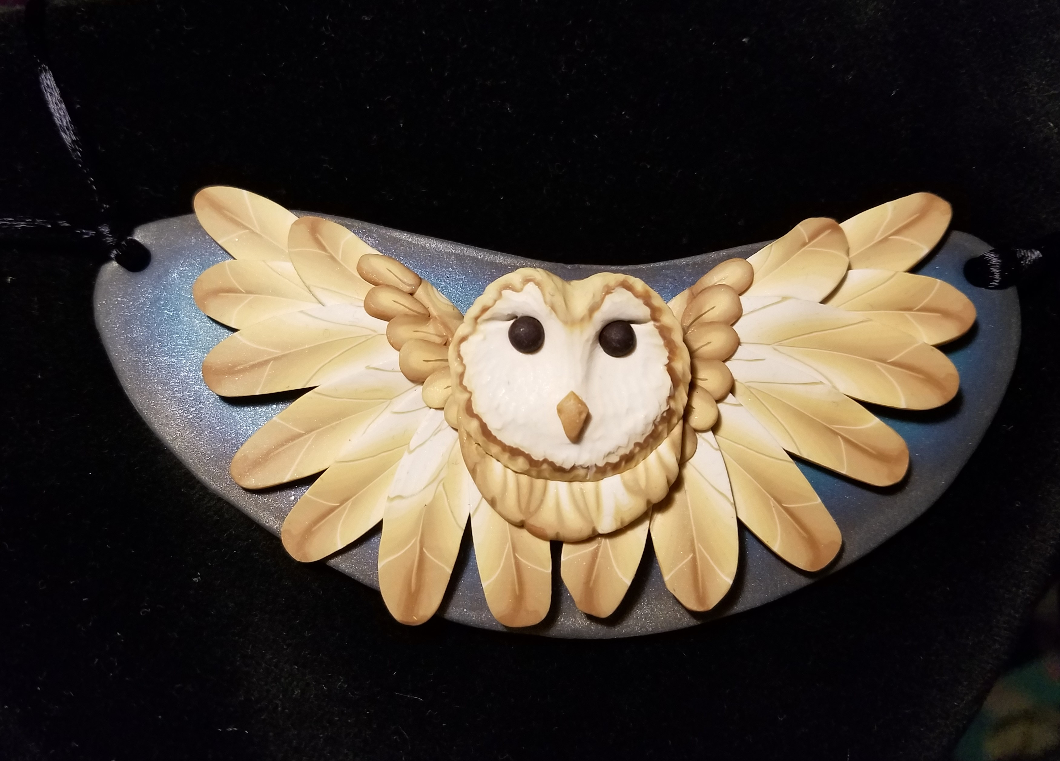 Barn Owl Statement Necklace (2)