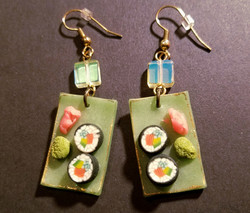 Jade Sushi Platter Earrings