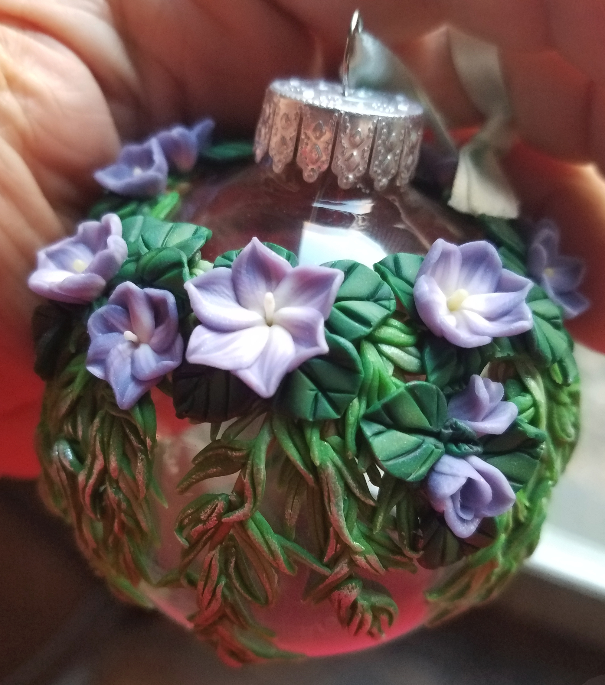 Lavender Tempest and Willow leaves